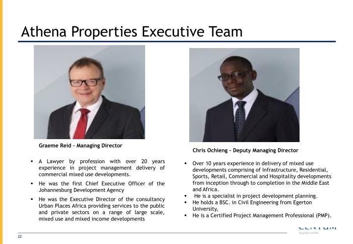 Athena Properties Executive Team