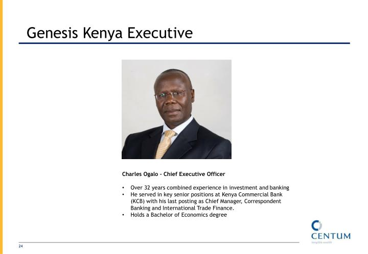 Genesis Kenya Executive