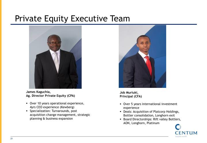 Private Equity Executive Team