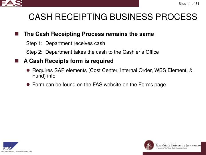 CASH RECEIPTING BUSINESS PROCESS
