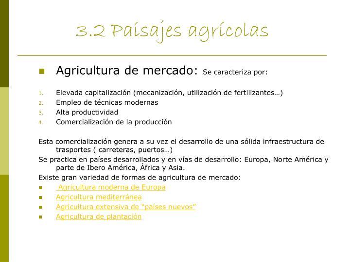3.2 Paisajes agrícolas