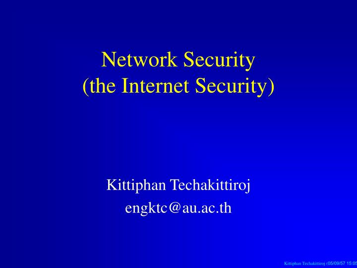Network security the internet security