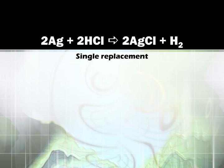 2Ag + 2HCl
