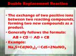 double replacement reaction