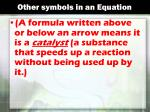 other symbols in an equation1
