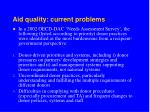 aid quality current problems