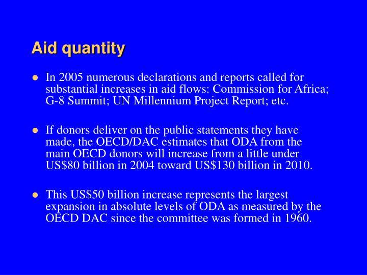 Aid quantity