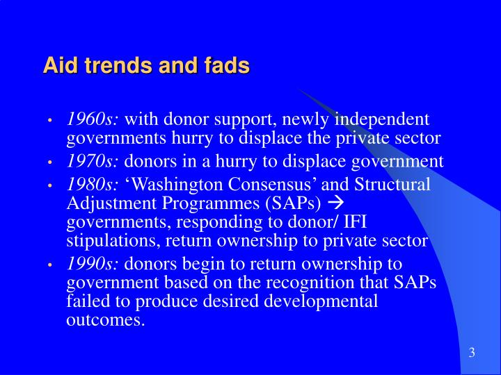 Aid trends and fads