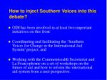 how to inject southern voices into this debate