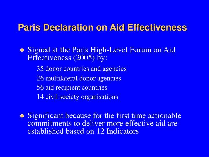 Paris Declaration on Aid Effectiveness