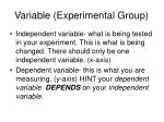 variable experimental group