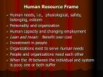 human resource frame