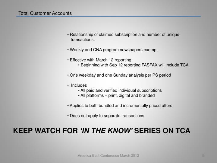 Total Customer Accounts