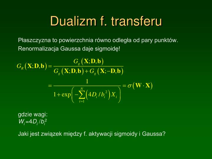 Dualizm f. transferu