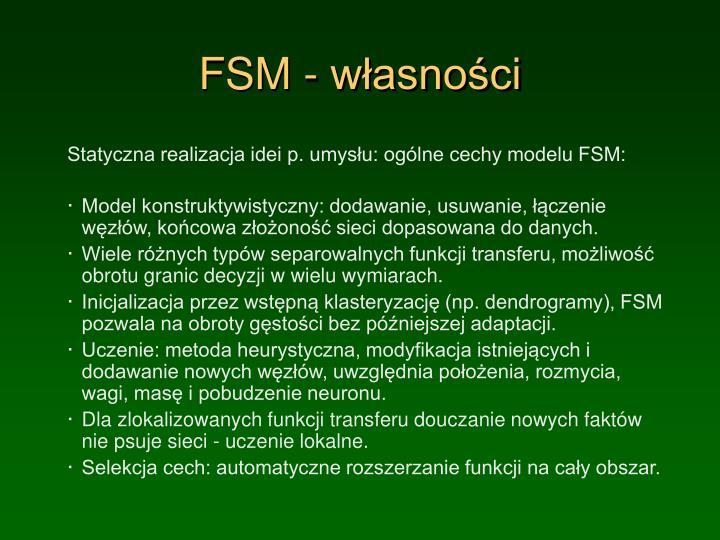 FSM - własności
