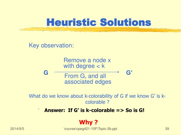Heuristic Solutions