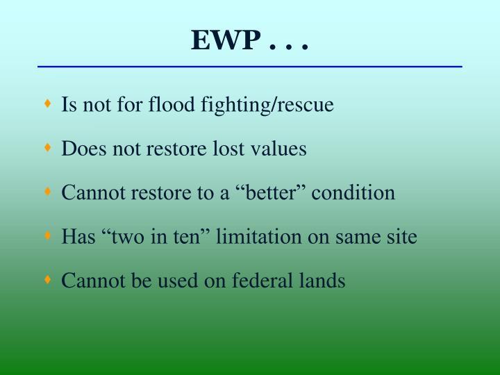 EWP . . .