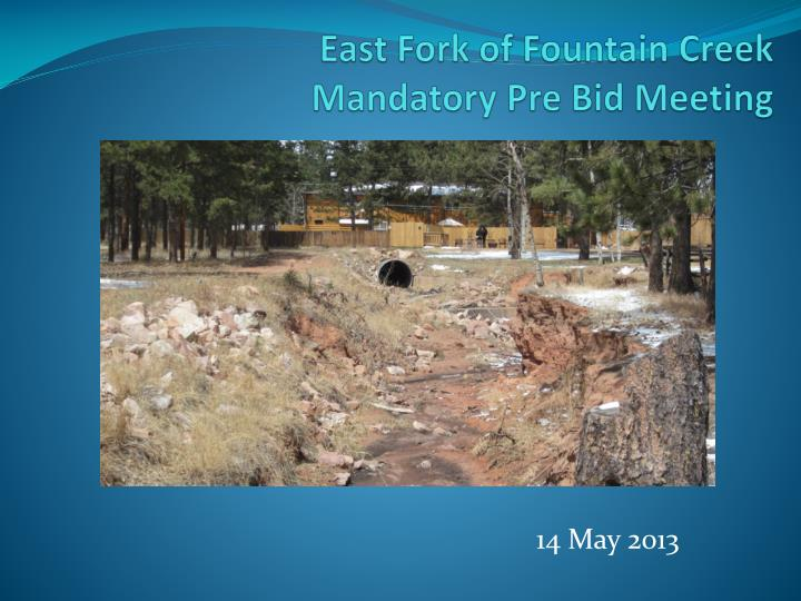 East fork of fountain creek mandatory pre bid meeting