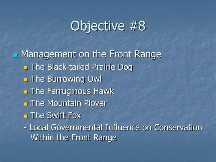 Objective #8