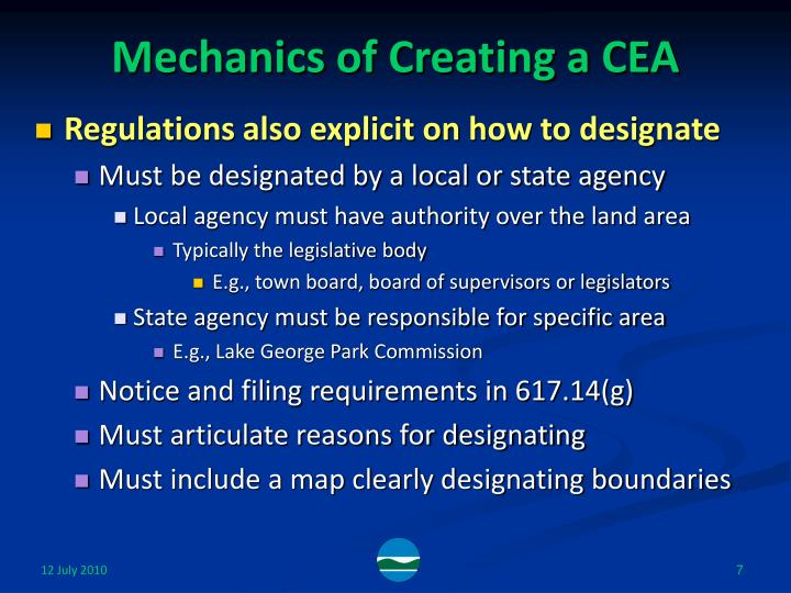 Mechanics of Creating a CEA