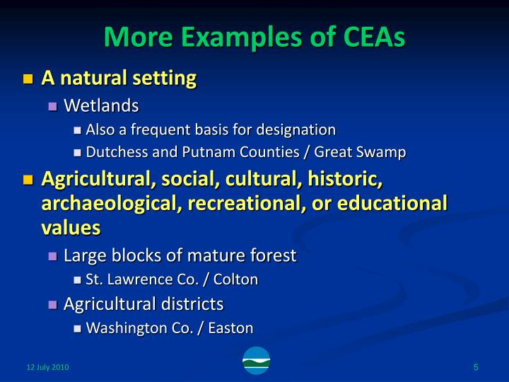 More Examples of CEAs