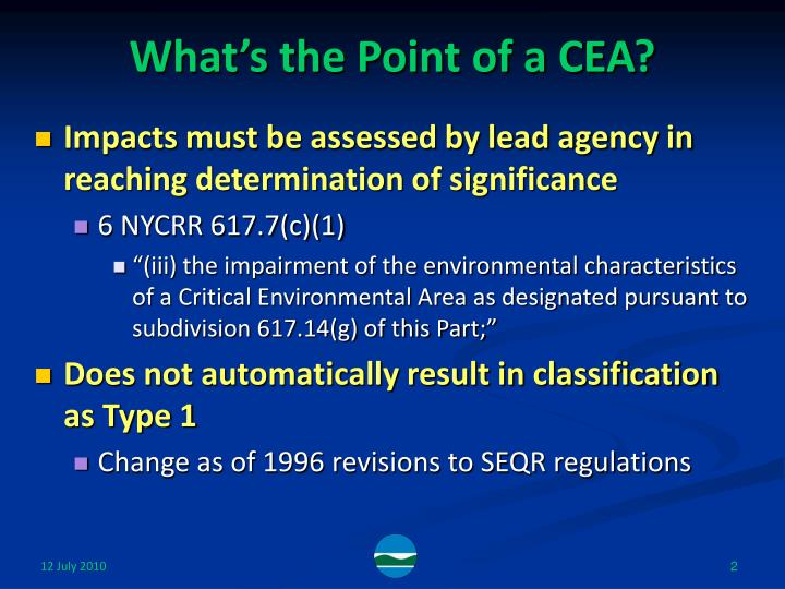 What's the Point of a CEA?