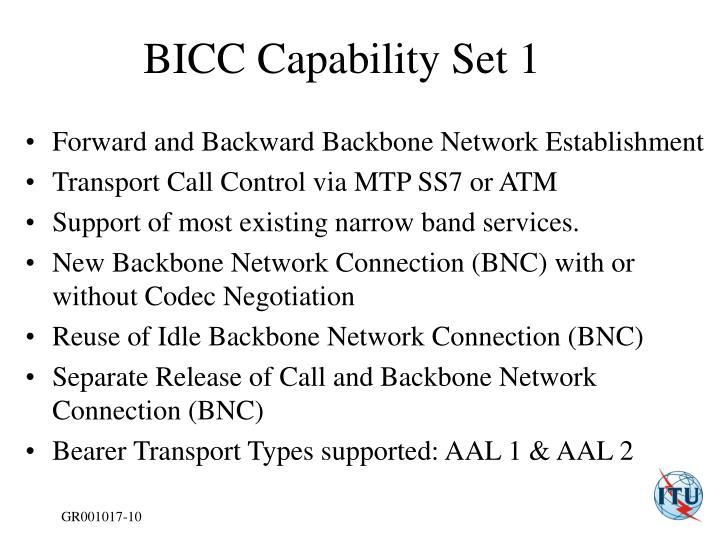BICC Capability Set 1