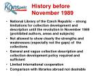 history before november 1989