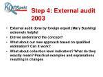 step 4 external audit 2003