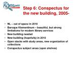 step 6 conspectus for the new building 2005