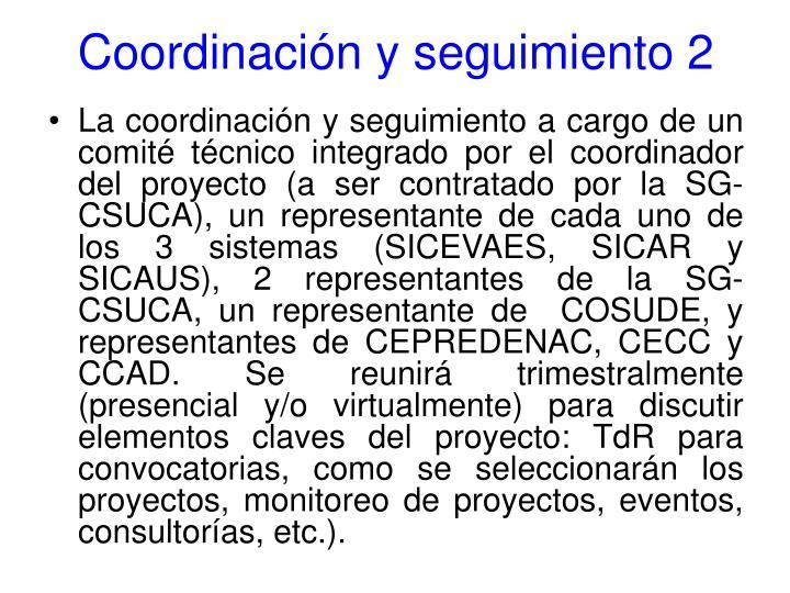 Coordinación y seguimiento 2