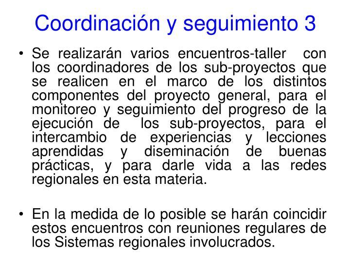 Coordinación y seguimiento 3