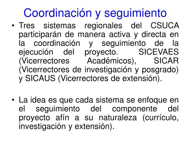 Coordinación y seguimiento