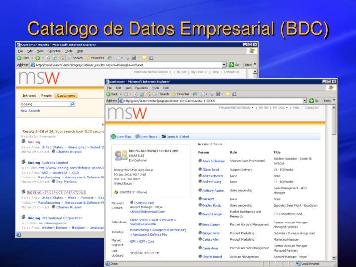 Catalogo de Datos Empresarial (BDC)