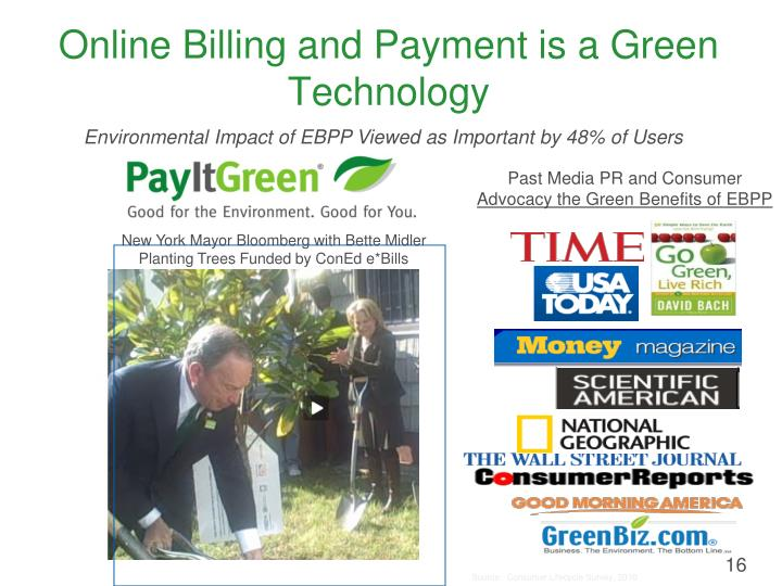 Online Billing and Payment is a Green Technology