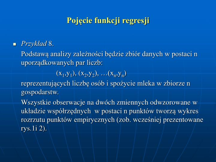 Pojcie funkcji regresji