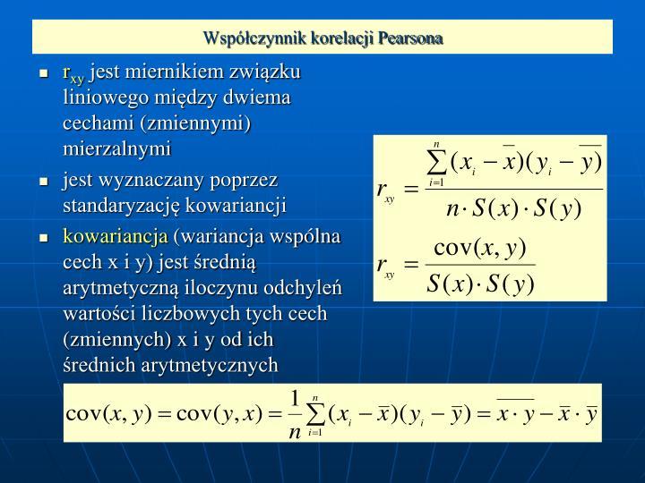 Współczynnik korelacji Pearsona