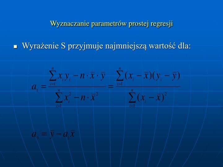 Wyznaczanie parametrów prostej regresji