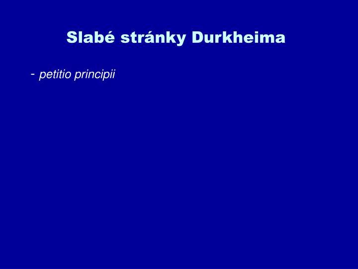 Slabé stránky Durkheima
