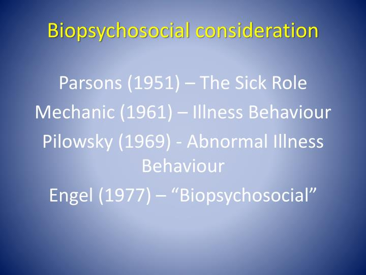 Biopsychosocial