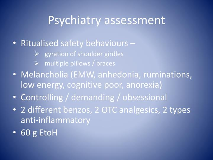 Psychiatry assessment