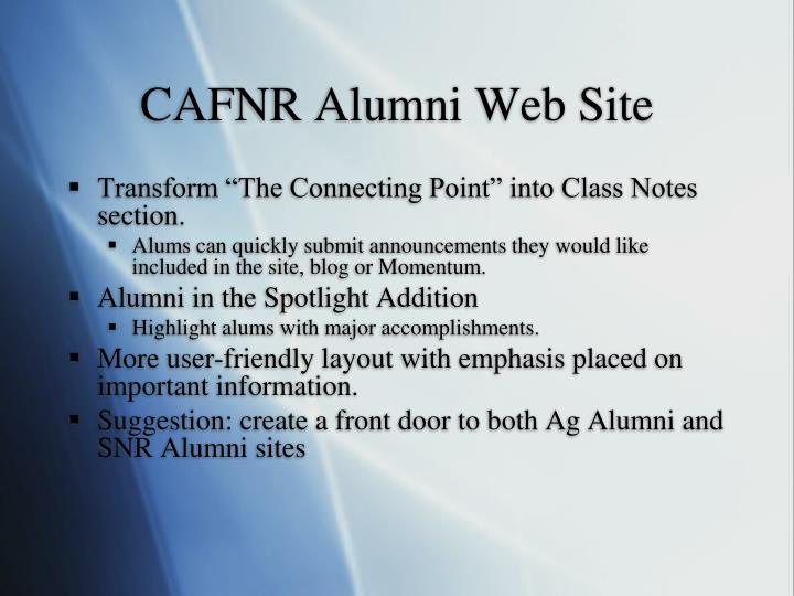 CAFNR Alumni Web Site