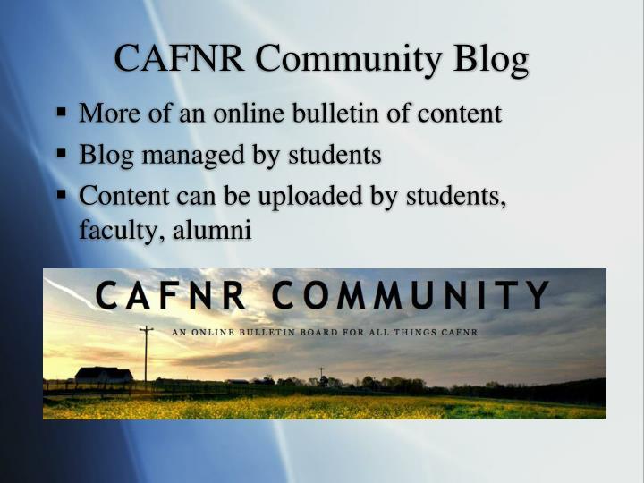 CAFNR Community Blog
