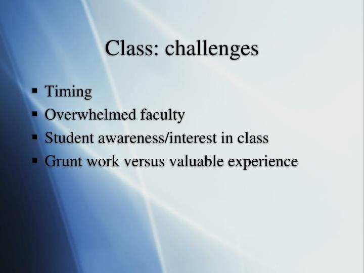 Class: challenges