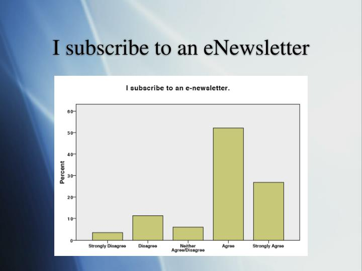 I subscribe to an eNewsletter