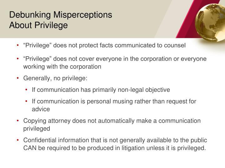 Debunking Misperceptions