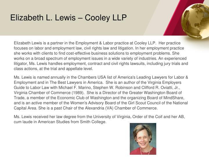 Elizabeth L. Lewis – Cooley LLP