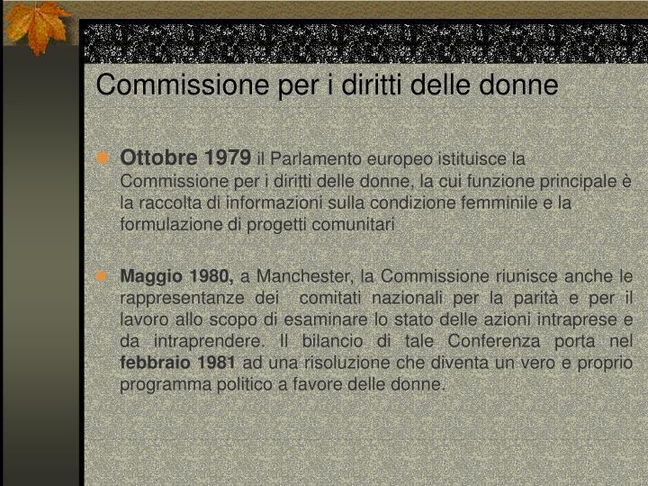Commissione per i diritti delle donne