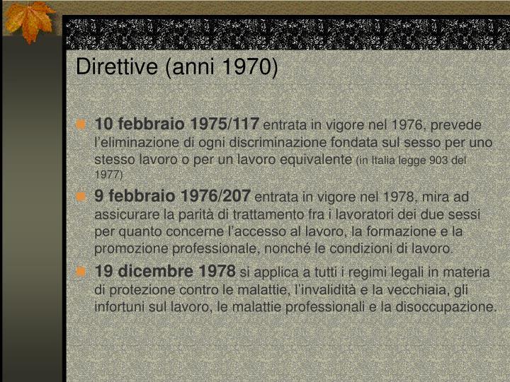 Direttive (anni 1970)