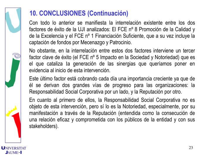 10. CONCLUSIONES (Continuacin)